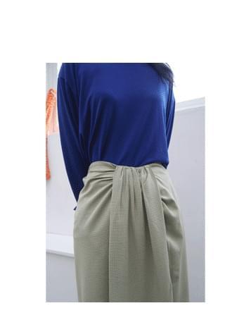 unbalance pintuck check skirt (3colors)