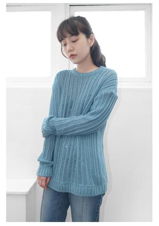 lazy loose-fit knit (3colors)