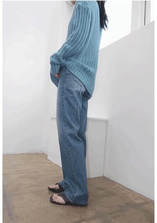 line straight denim pants デニムパンツ