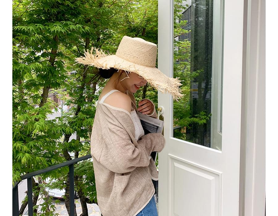 Wise easy linen cardigan_K (size : free)