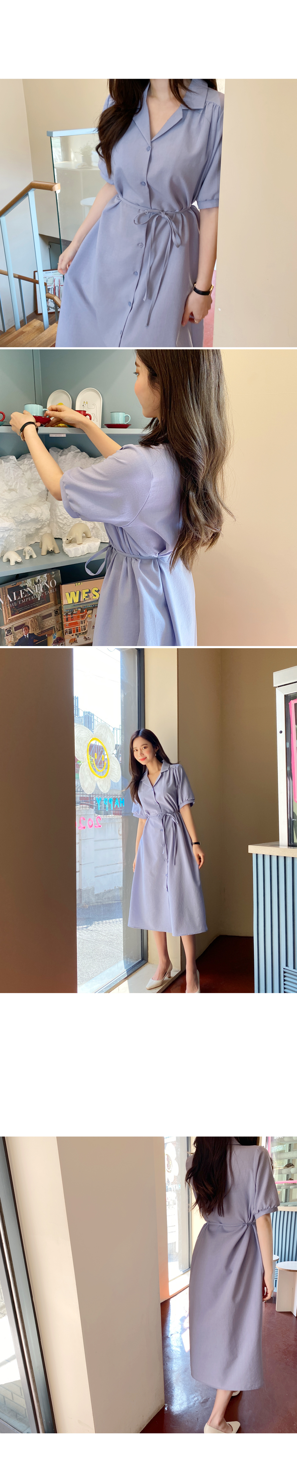 Fiesta Shirring Shirt Long Dress