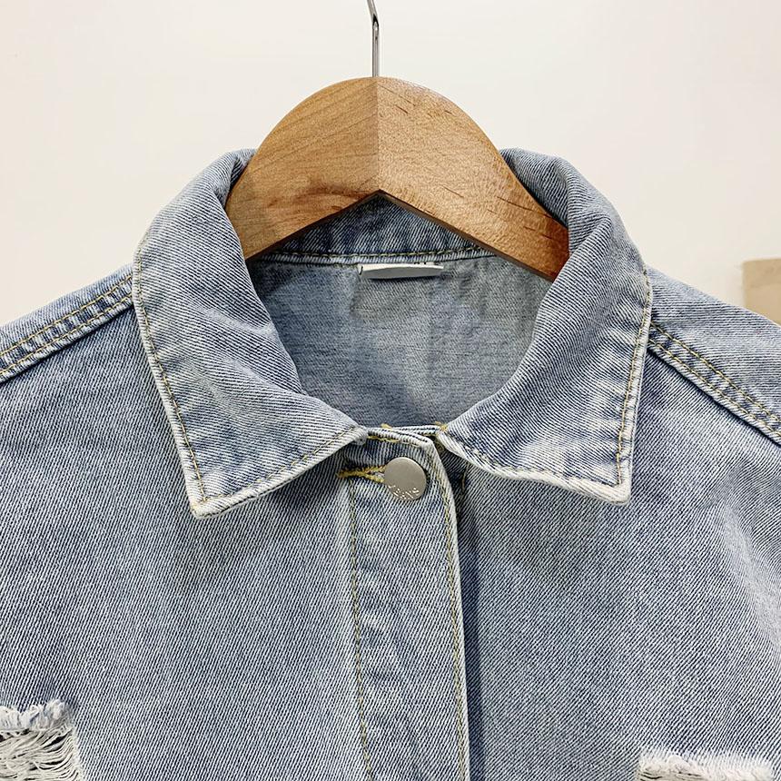 Sensable Damage Crop Blue Jacket