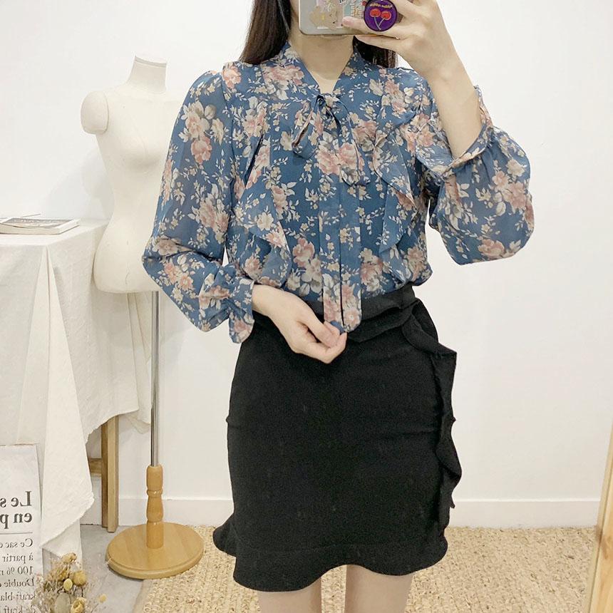 Clario frill mini skirt