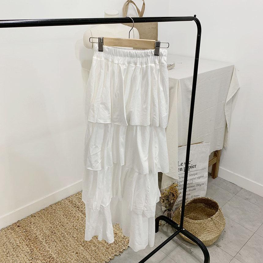 Celllo's frill cancan long skirt
