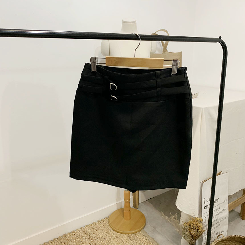 Hublot Buckle Mini Skirt Pants