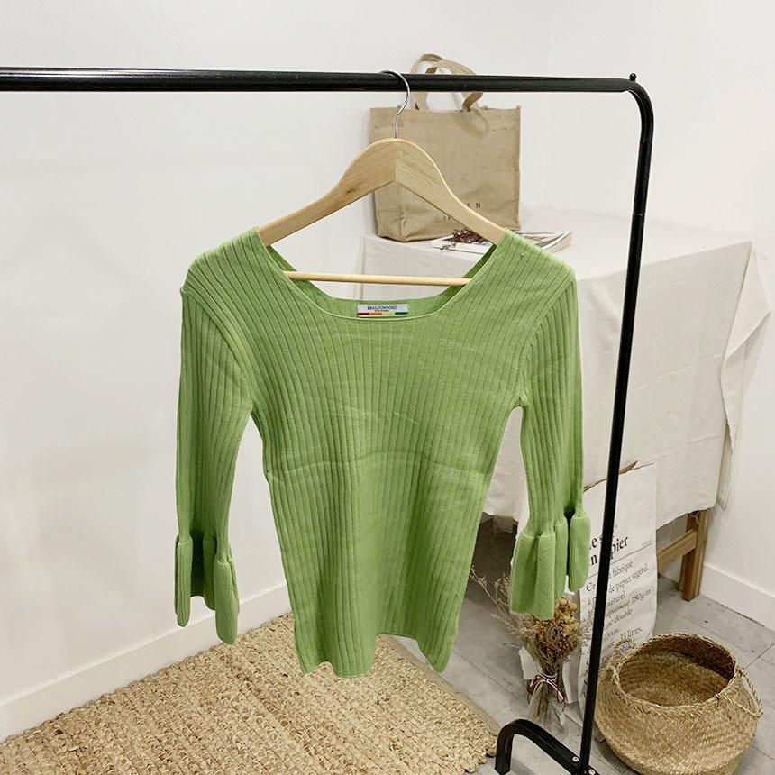 Felice cuffs square-neck knit