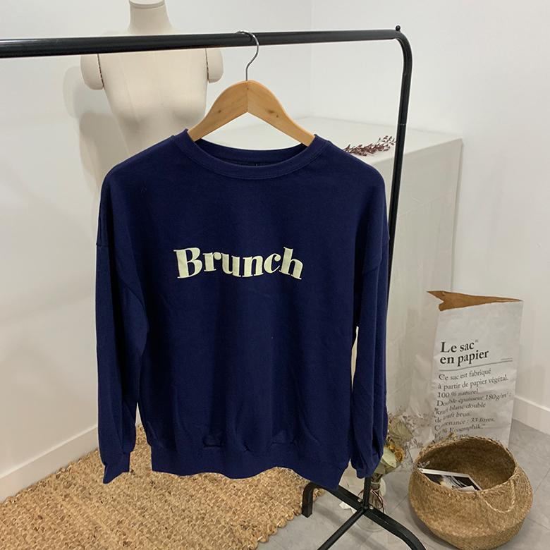 Brunch lettering round sweat shirt