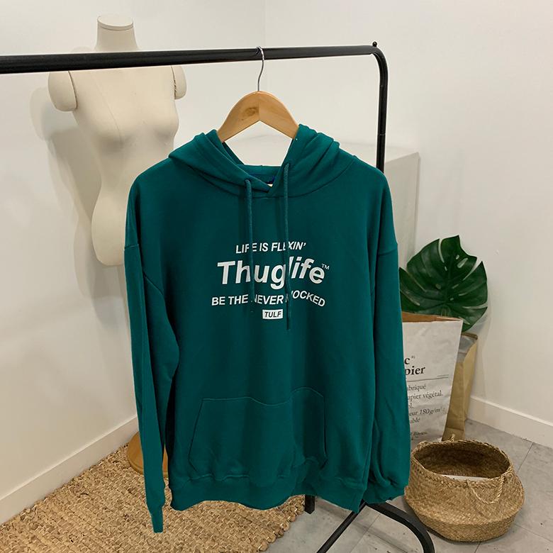 Thug Lettering Box Hoodie