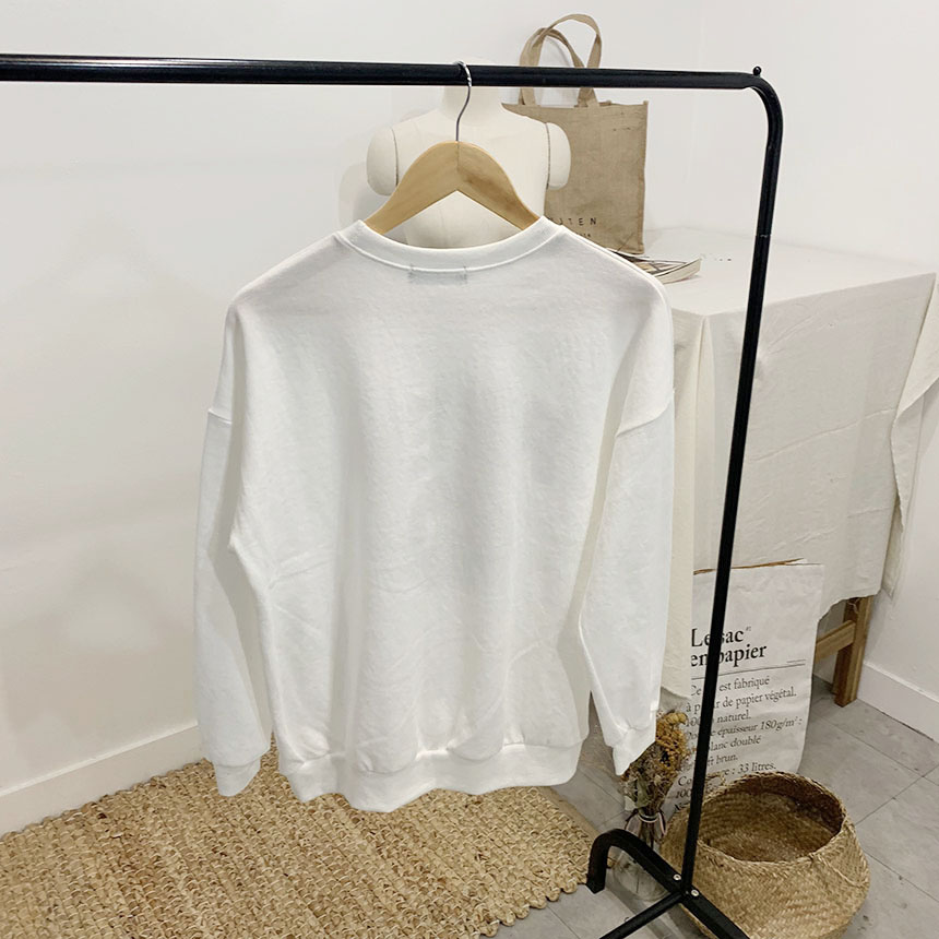 Prep printing round neck sweat shirt
