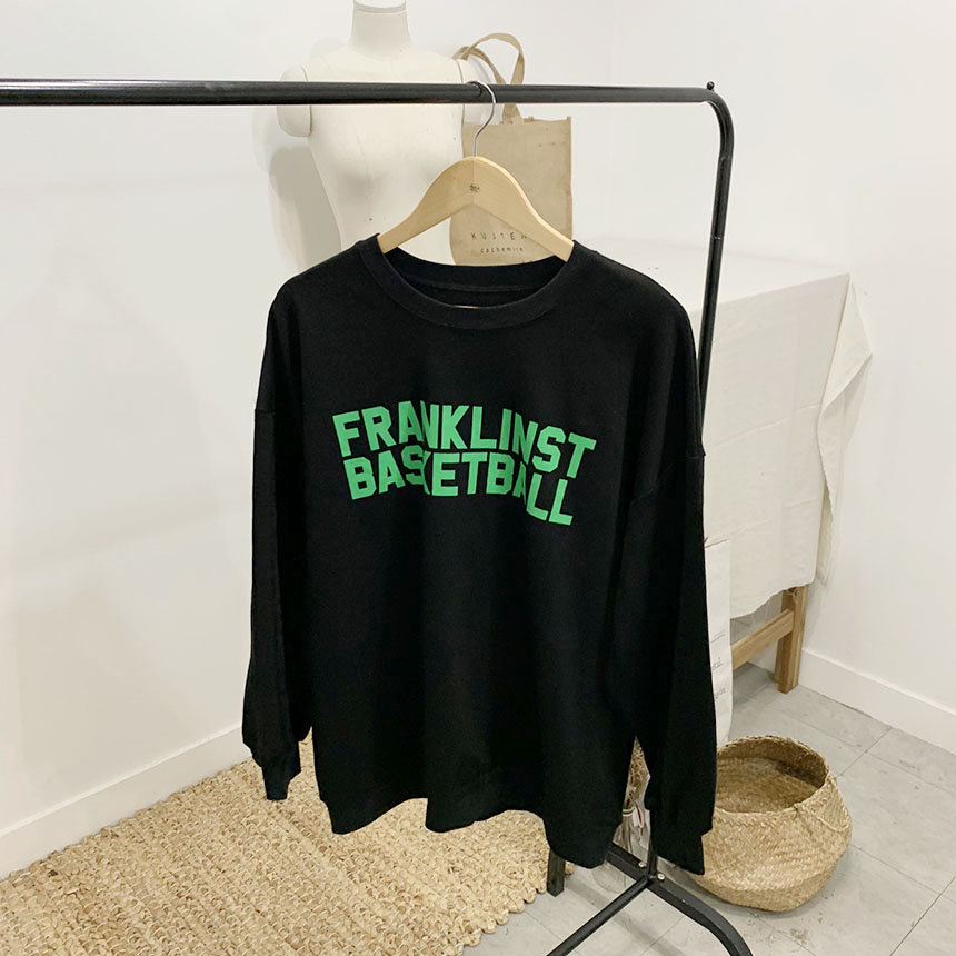 Franklin lettering round neck sweat shirt
