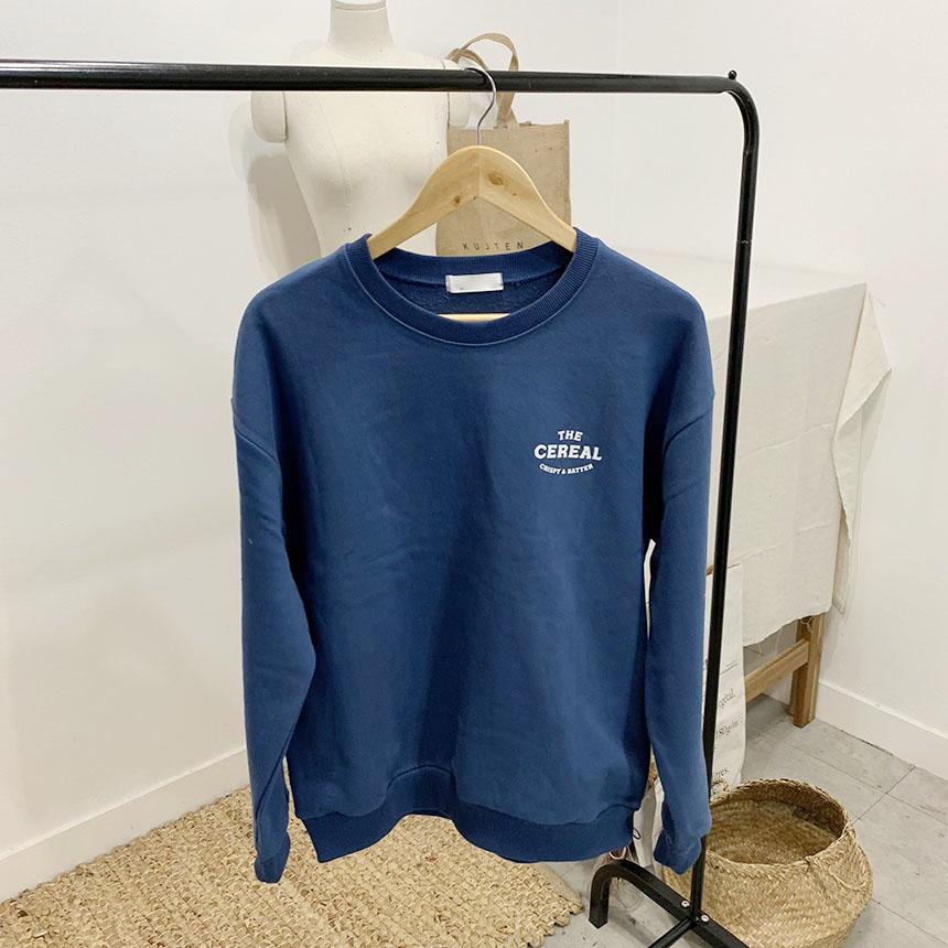 Serial printing round neck sweat shirt