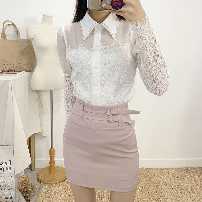 Rayvet see-through lace blouse