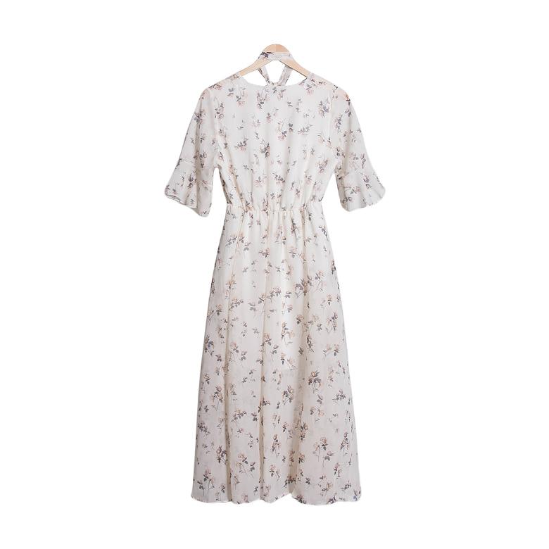 Jasmine Flower Chiffon Long Dress