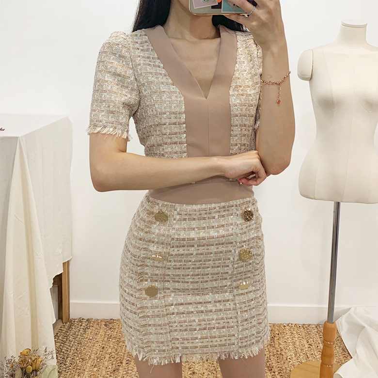Charles tweed mini dress