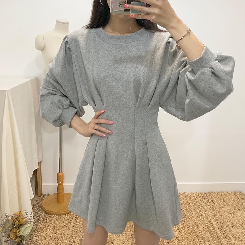 Cream puff mini dress
