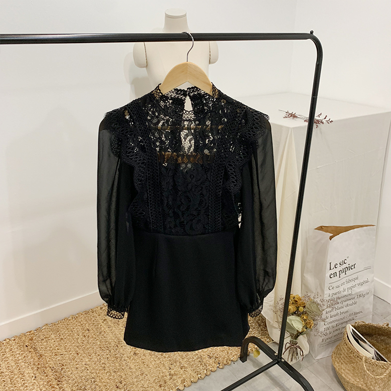 Vivian see-through lace mini dress