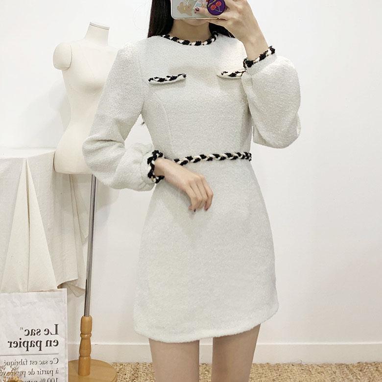 Elp Round Wool Mini Dress