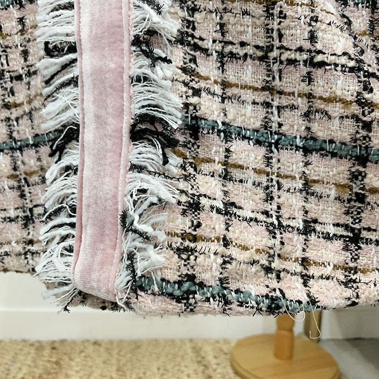 Lachen Pearl Tweed Mini Dress