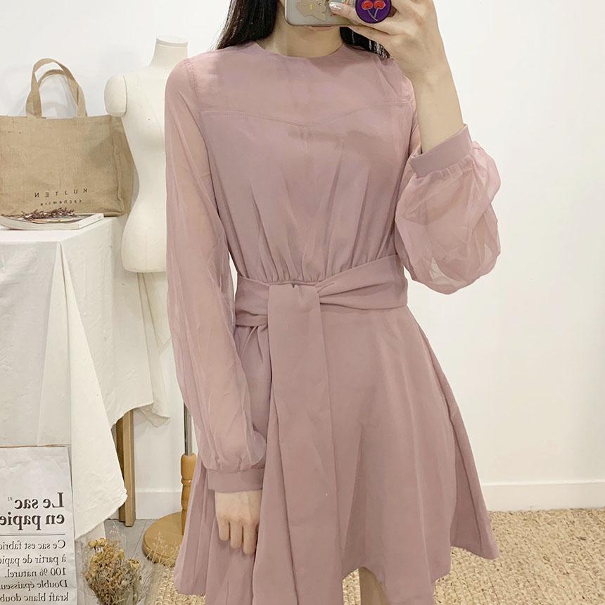 Chlore strap flare mini dress