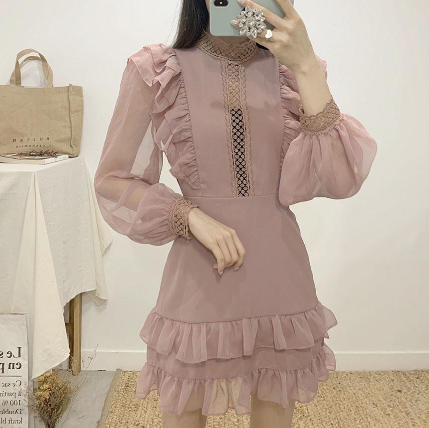 Sunny Dell See Through Frill Mini Dress