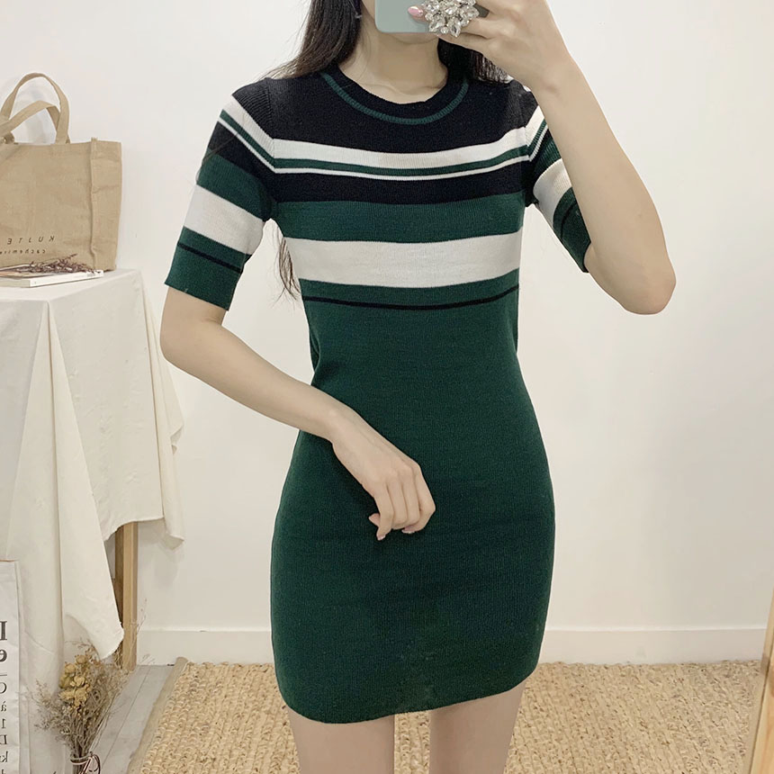 Lomen Stripe 5 Piece Mini Dress