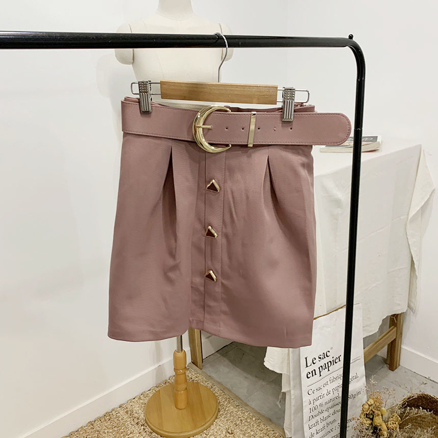 Rich belt mini pants skirt 2colors