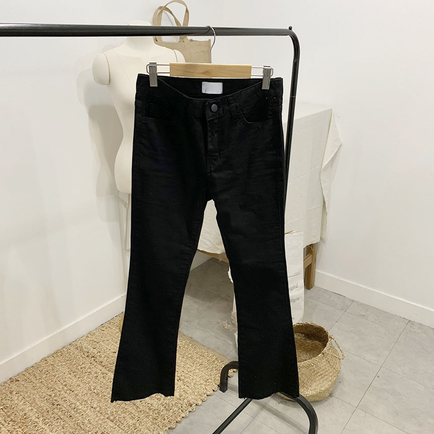 Ventlet semi-bootcut cotton trousers