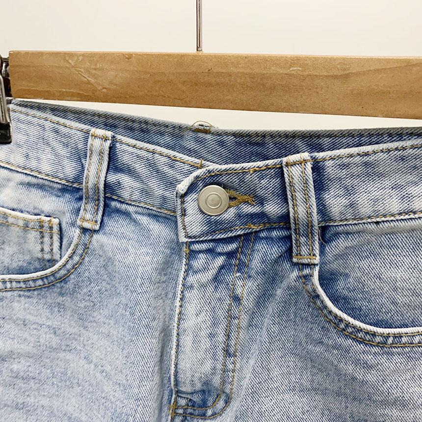 Blenyu Uncut Cut Denim Short Pants