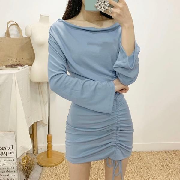 Maxi's Shirring Off Shoulder Mini Dress