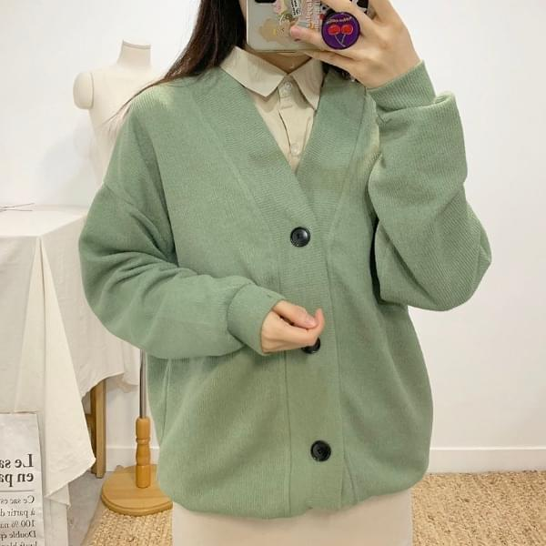 Maple V Neck Overfit Cardigan 5colors