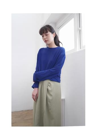 color variation loose-fit top 長袖