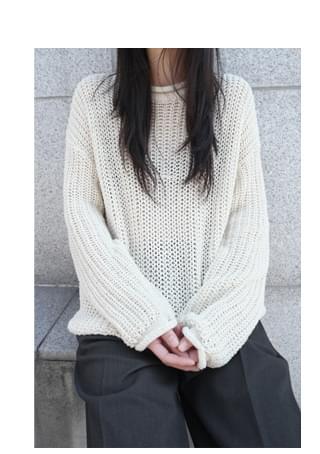 loose pairing net knit