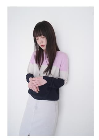 fresh color block knit