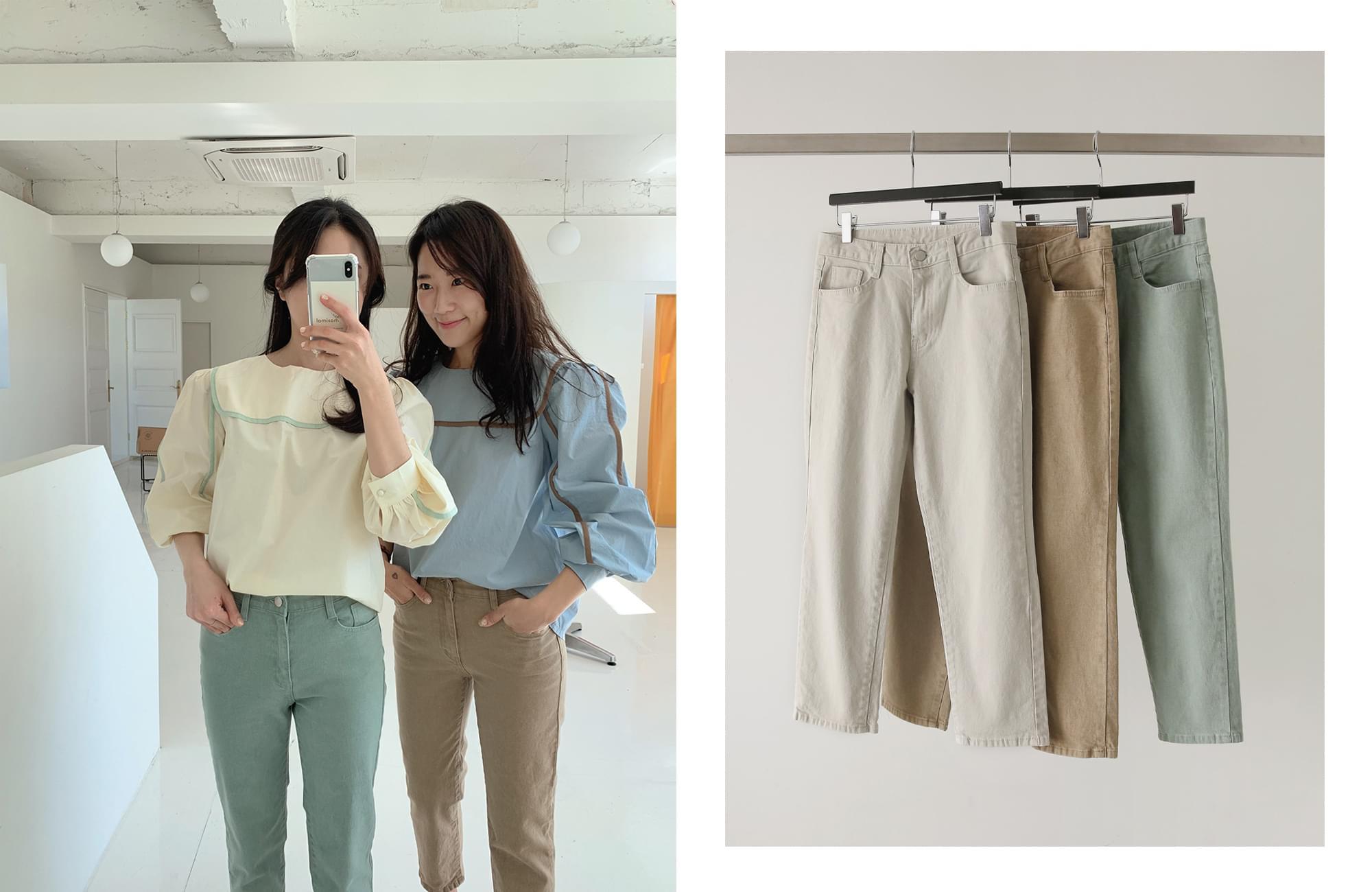 Pigment 8.5 part cropped pants 長褲
