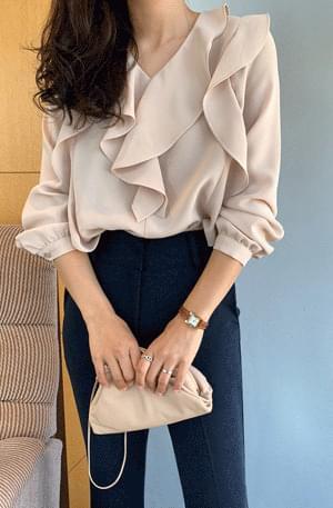 Double ruffled blouse 襯衫