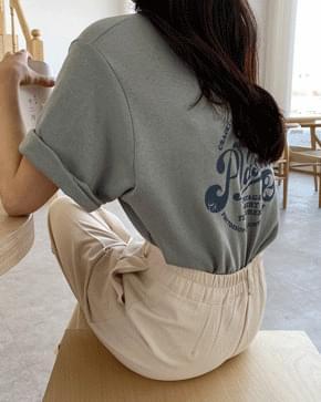 Vintage printing short-sleeved T-shirt 短袖上衣