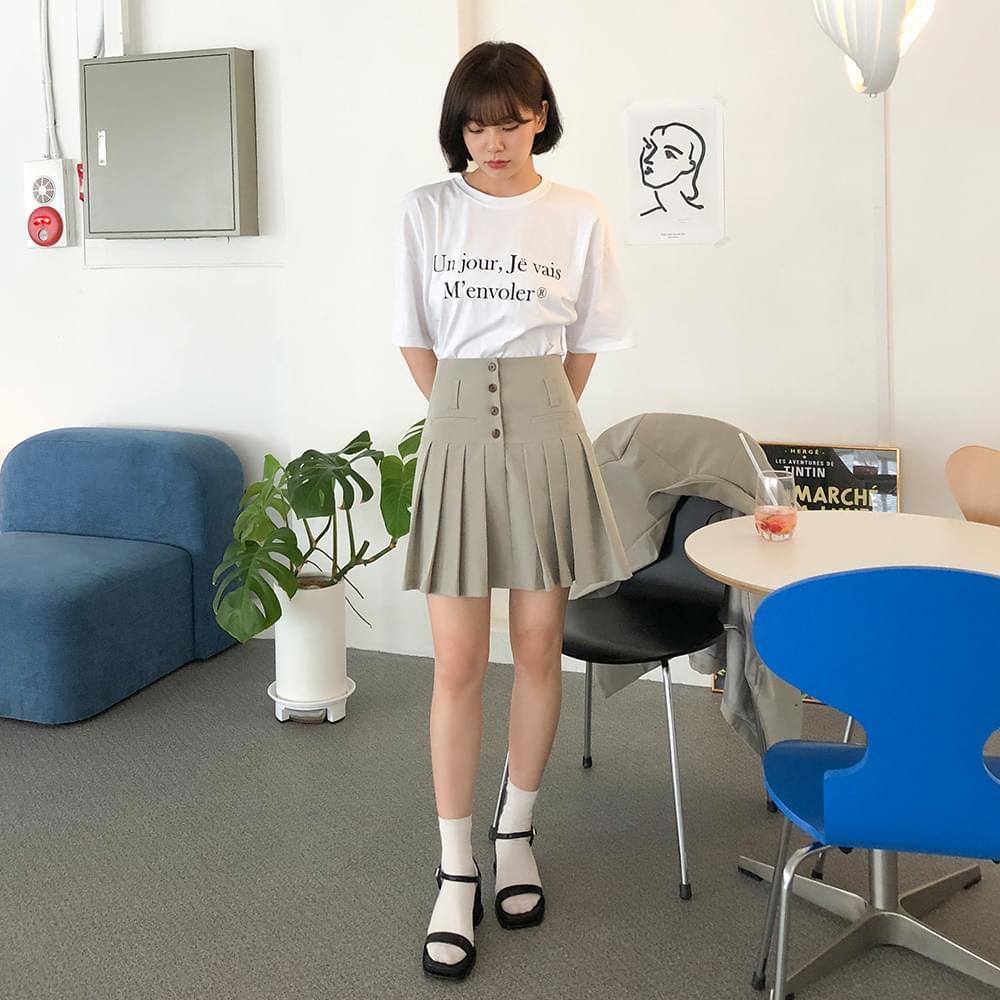 Post button mini skirt スカート