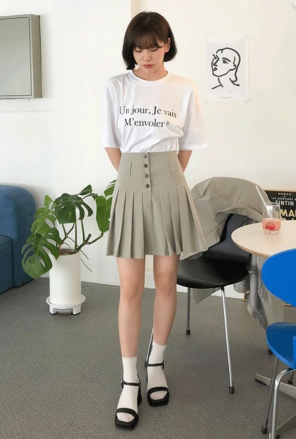 Post Overfit Jacket + Post Button Mini Skirt ジャケット