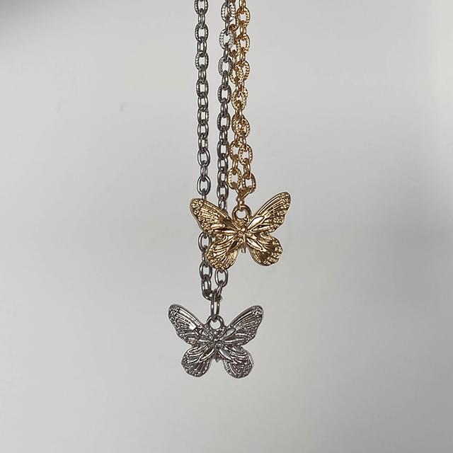 Twin Butterfly Necklace