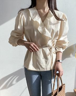 Mammal ruffle blouse 襯衫