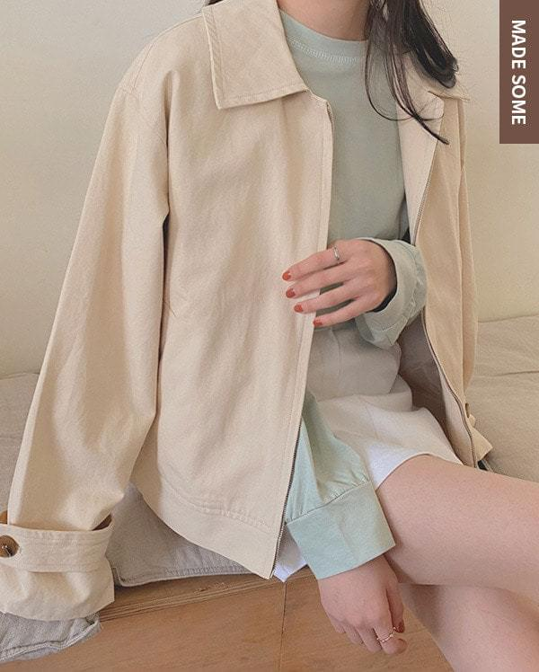 #made some moody simple cotton trench jacket