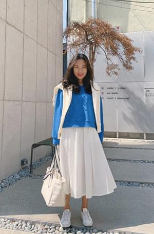 Pocari Cotton Pleated Skirt 裙子