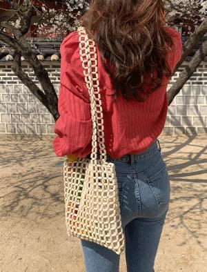 Vintage Wood Net Shoulder Bag Shoulder Bags
