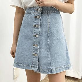 ポケットユニークデニムスカート