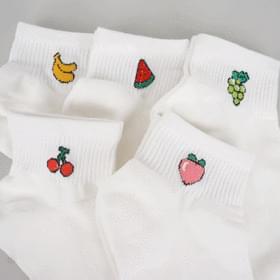 1 + 1 refreshing mini fruit socks 靴下