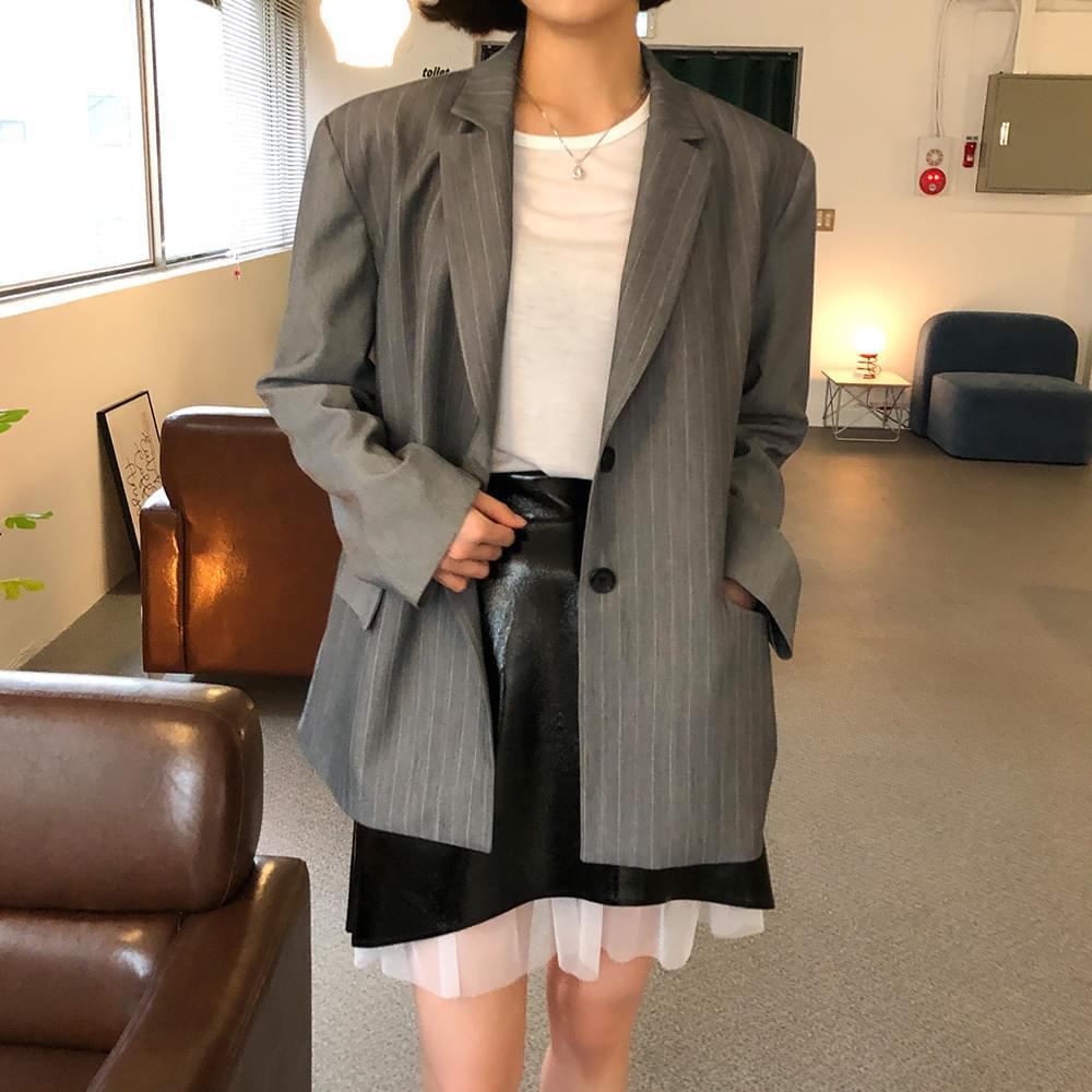 Striped color jacket ジャケット