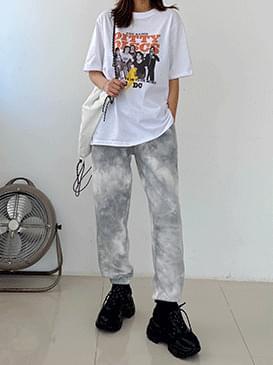 Tie-dye Celine Jogger Pants