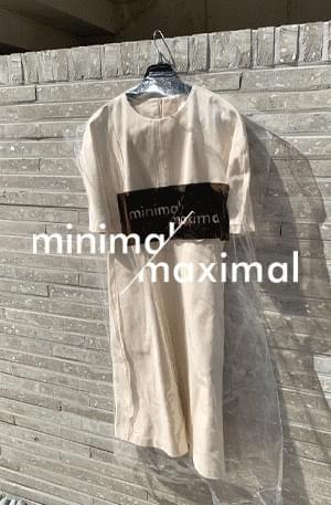 MMMM / Ecru Denim Puff Dress 洋裝