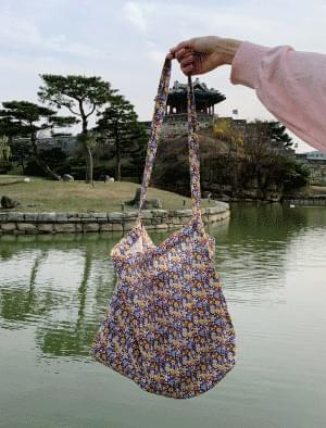 Flower pattern mix color eco bag 帆布包