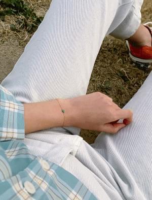 Chain Gemstone Pendant Fashion Bracelet